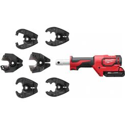 Click here to see Milwaukee 2678-22BG Milwaukee 2678-22BG M18 Force Logic 6T Utility Crimping Kit with D3 Grooves, and Fixed BG