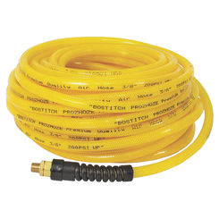 Click here to see Bostitch PRO-38100 Prohoze PRO-38100 Premium Air Hose, 3/8 in x 100 ft, MNPT, 200 psi, Polyurethane