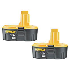 Click here to see Dewalt DC9096-2 Dewalt XRP DC9096-2 Rechargeable Combination Battery Pack, 18 V, NiCd