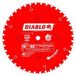 Click here to see Diablo D1040W Diablo D1040W 10-1/4-Inch 40T Circular Saw Blade