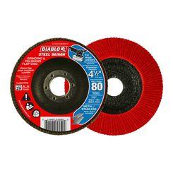 Click here to see Diablo DCX045080N01F Diablo DCX045080N01F 4-1/2-Inch 80-Grit Steel Flap Disc