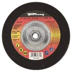 Click here to see Forney 71879 Forney 71879 Grinding Wheel, Metal Type 27