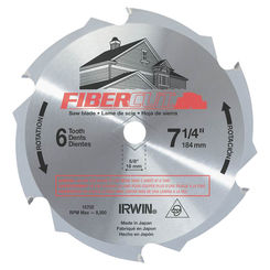 Click here to see Irwin 15702 Irwin 15702 Circular Saw Blade, 7-1/4 in Dia, 6 Teeth, 1 in Arbor