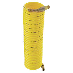 Click here to see Plews 4-50E-RET Plews 4-50E-RET Recoil Air Hose, 1/4 in x 50 ft, MNPT, 200 psi, Nylon