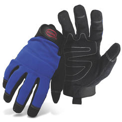 Click here to see Boss 5205M Boss 5205M Blue Mechanic Gloves, Synthetic Leather, Medium