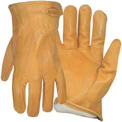 Click here to see Boss 6133L Boss 6133L Protective Gloves, Large, Premium Grain Leather, Gold, Cotton Thermal Lining