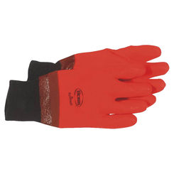 Click here to see Boss 3500 Hot Hands 3500 Protective Gloves, Large, Single Dipped PVC, Bright Orange, Foam Lining