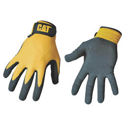 Click here to see CAT CAT017416L CAT CAT017416L Protective Gloves, Large, Nylon Shell, Black/Yellow