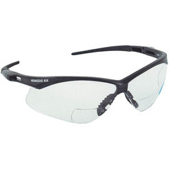 Click here to see Jackson 3013307 Nemesis Rx V60 Safety Spectacle, +1.5, Clear Anti-Scratch Polycarbonate Lens, Black Nylon Frame