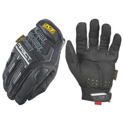 Click here to see Mechanix MPT-58-010 M-Pact MPT-58 Protective Gloves, Size 10, Large, TPR/TrekDry, Black/Gray, Padded Spandex Lining