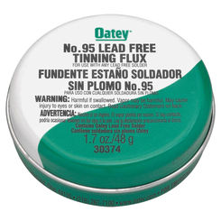 Click here to see Oatey 30373 Oatey No. 95 Tinning Flux, 1.7 oz, Carded, Paste, Greenish-Gray
