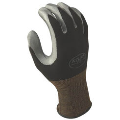 Click here to see Showa Atlas 370BS-06.RT Atlas 370 Protective Gloves, Size 6, Small, Nitrile, Black, Nylon Lining