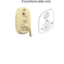 Click here to see Moen 135149P Moen 135149P Kingsley Escutcheon - Polished Brass