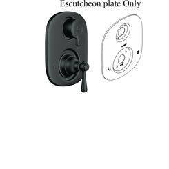 Click here to see Moen 135149WR Moen 135149WR Kingsley Escutcheon - Wrought Iron