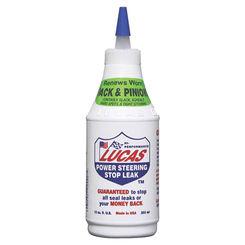 Click here to see Lucas Oil 10008 Lucas Oil 10008 Power Steering Stop Leak, 12 oz, Bottle, Light Red, Liquid