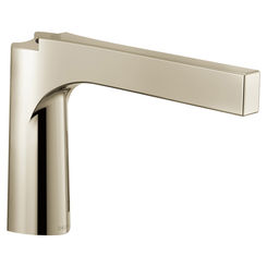 Click here to see Delta RP84827PN Delta RP84827PN Polished Nickel Roman Tub Spout - 4 Hole