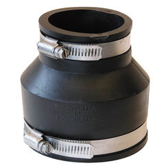 Click here to see Fernco P1056-32 Fernco 1056 Flexible Pipe Reducing Stock Coupling, 3 X 2 in x 3.956 in, Plastic, 4.3 psi, PVC