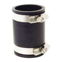 Click here to see Fernco P1056-150 Fernco 1056 Flexible Pipe Stock Coupling, 1-1/2 in x 3.43 in, Plastic, 4.3 psi, PVC