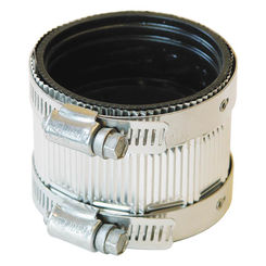 Click here to see Fernco PNH-22 Fernco PNH-22 Flexible Pipe Coupling, 2 in x 2.13 in, No Hub, 4.3 psi, PVC