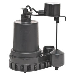 Click here to see Superior 92372 Superior 92372 High Capacity Sump Pump, 48 gpm, 1/3 hp, 120 V, Thermoplastic 1-1/2 in Outlet, 25 ft Maximum Head