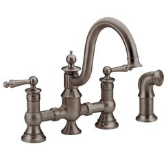 Click here to see Moen S713ORB Moen S713ORB Waterhill Two-Handle Kitchen Faucet, Oil-Rubbed Bronze