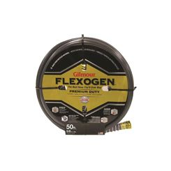 Click here to see Gilmour 1058050 Flexogen 10 Lightweight Garden Hose With Full -Flo Machined Metal Couplings, 5/8 in ID, 50 ft L