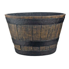 Click here to see Mintcraft PT-030 Mintcraft PT-030 Planters, Whiskey Barrel, 20 x 13 In Dia x Hght