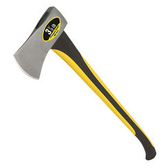 Click here to see Mintcraft 33710 MintCraft 33710 Michigan Axe With Handle, 3.5 lb, 33 in OAL, Fiberglass Handle