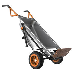 Click here to see Worx WG050 Worx WG050 8-In-1 All-Purpose Yard Cart, 300 lb, 3 cu-ft, Metal