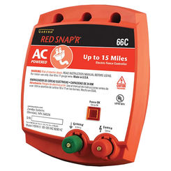 Click here to see Zareba 66C Red Snap'r 66C AC Powered, Solid State Electric Fence Charger, 110 V Input