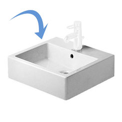 Click here to see Duravit 0454500027 Duravit 0454500027 Vero Ground-Mounted Rectangular Washbasin, White Alpin