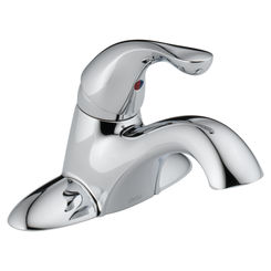 Click here to see Delta 501-DST Delta 501-DST Classic 1-Handle Centerset Lavatory Faucet - Less Pop-Up (Chrome)