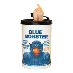Click here to see Millrose 77095 Millrose 77095 Blue Monster Hand Wipes - Citrus Scrubbing Towels w/ Brush