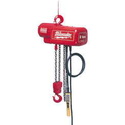 Click here to see Milwaukee 9560 Milwaukee 9560 model 1/2 Ton Electric Chain Hoist