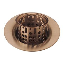 Click here to see Brizo 69051-BZ Brizo 69051-BZ Brilliant Brushed Bronze Sink Flange and Strainer