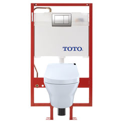 Click here to see Toto CWT4372047MFG-4#01 TOTO CWT4372047MFG-4#01 MH WASHLET+ Wall-Hung Toilet w/ C200 - Dual-Flush, PEX Supply, Cotton White