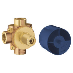 Click here to see Grohe 29901000 Grohe 29901000 Concetto 2-Way Diverter Rough-In Valve (Shared Functions)
