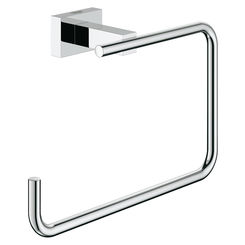 Click here to see Grohe 40510001 Grohe 40510001 Essentials Cube Towel Ring, Starlight Chrome