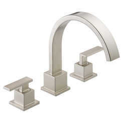 Click here to see Delta T2753-SS Delta T2753SS Vero Roman Tub Faucet in Stainless Steel