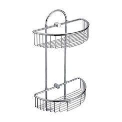 Click here to see Alfi AB9534 ALFI AB9534 Double Basket Shower Shelf Bathroom Accessory, Polished Chrome