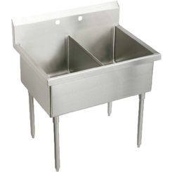 Click here to see Elkay WNSF8242OF_ Elkay WNSF8242OF Double Bowl Stainless Steel Scullery Sink