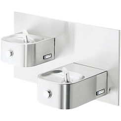 Click here to see Elkay EDFP217C Elkay EDFP217C  Soft Sides Two-Level Wall-Mounted Drinking Fountain