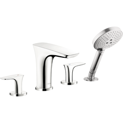 Click here to see Hansgrohe 15456001 Hansgrohe 15456001 Puravida 4-Hole Roman Tub Set Trim with Handshower, Chrome