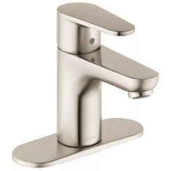 Click here to see Hansgrohe 31612821 Hansgrohe 31612821 Talis E Single-Hole Faucet 80 with Pop-Up Drain, Brushed Nickel