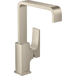 Click here to see Hansgrohe 32511821 Hansgrohe 32511821 Metropol 230 Single-Hole Faucet with Lever Handle and Swivel Spout, Brushed Nickel