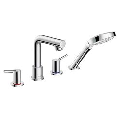 Click here to see Hansgrohe 72419001 Hansgrohe 72419001 Talis S 4-Hole Roman Tub Set Trim, Chrome