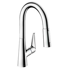 Click here to see Hansgrohe 72815001 Hansgrohe 72815001 Talis S  Pull-Down Prep Kitchen Faucet, Chrome