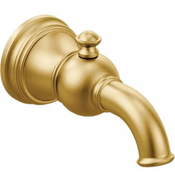 Click here to see Moen S12104BG Moen S12104BG Weymouth Diverter Tub Spout, Brushed Gold