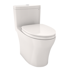 Click here to see Toto MS646124CEMFG#11 TOTO Aquia IV One-Piece Elongated Dual Flush 1.28 and 0.8 GPF Universal Height, WASHLET+ Ready Toilet with CEFIONTECT, Colonial White - MS646124CEMFG#11