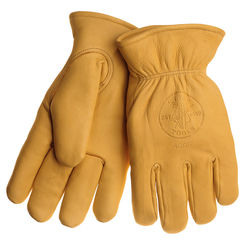 Click here to see Klein 40016 KLEIN 40016 COWHIDE GLOVES WITH THINSULATE MEDIUM